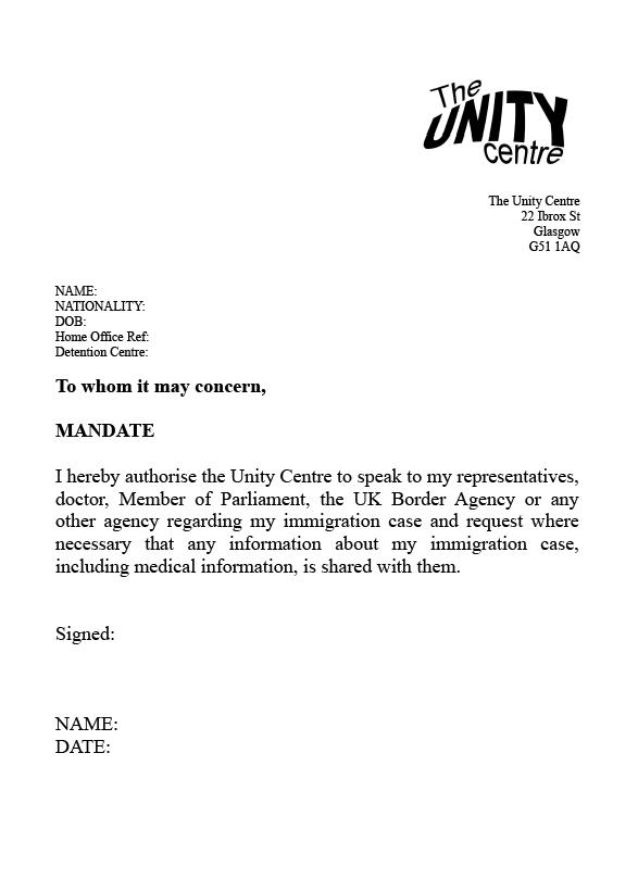 Detention mandate